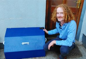 Paul Codd withi his innovative boot box