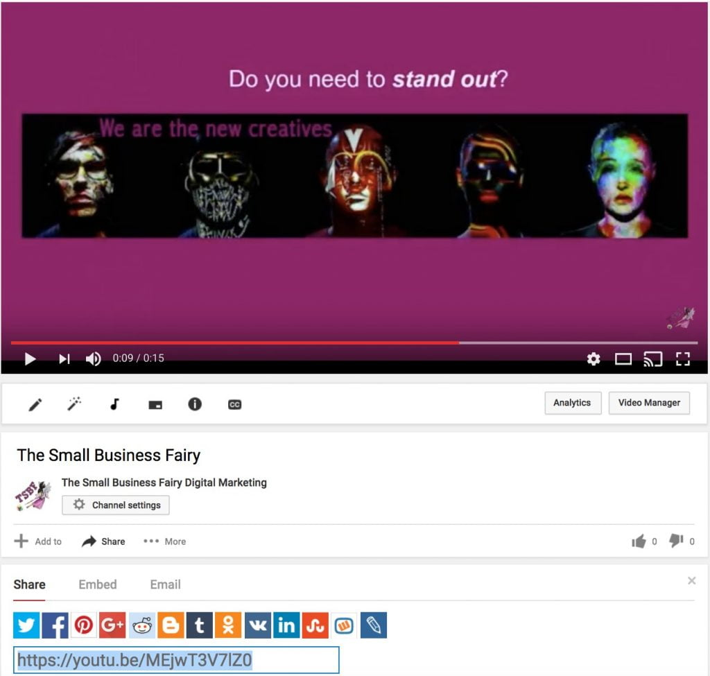 Embedded videos in your blog