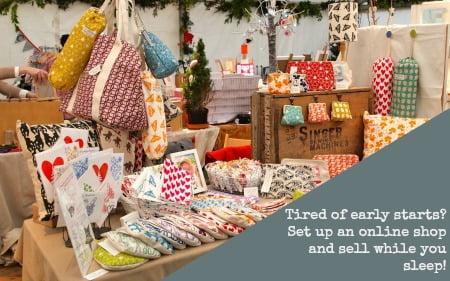 going from a craft stall to selling online with a website