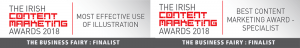 he business fairy DIGITAL MARKETING AGENCY best content award finalist most effective use of illustration and content