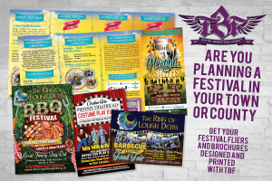 Festival fliers and brochures designed and printed with the business fairy digital marketing agency_